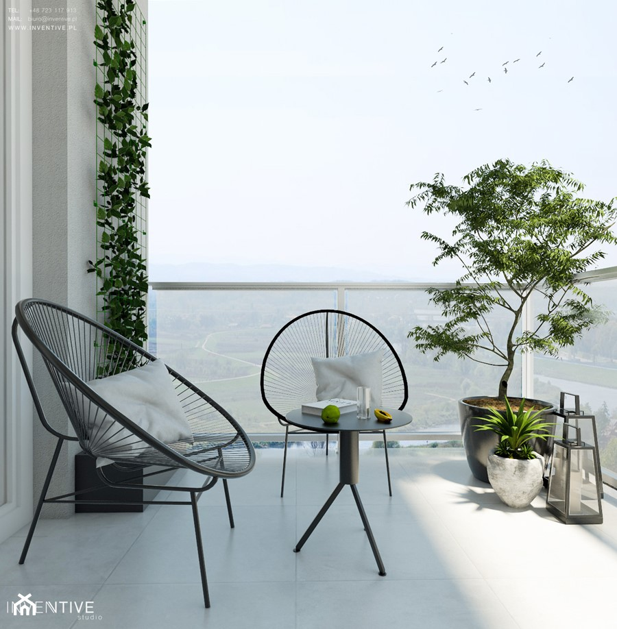 Żoli Żoli - Duży taras z tyłu domu, styl minimalistyczny - zdjęcie od INVENTIVE studio