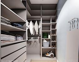 DOM BIAŁOŁĘKA - Mała zamknięta garderoba, styl nowoczesny - zdjęcie od INVENTIVE studio
