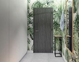 Ursynów - Średni szary zielony hol / przedpokój, styl nowoczesny - zdjęcie od INVENTIVE studio