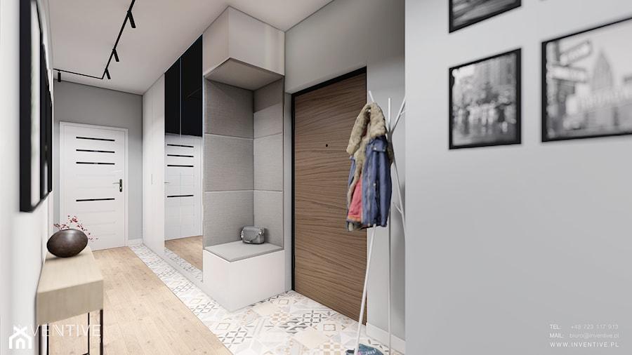MIESZKANIE WOLA - Średni szary hol / przedpokój, styl skandynawski - zdjęcie od INVENTIVE studio