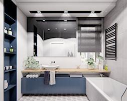 DOM POZNAŃ - Średnia biała szara łazienka, styl nowoczesny - zdjęcie od INVENTIVE studio - Homebook