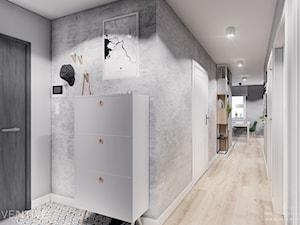 MIESZKANIE KRAKÓW - Średni szary hol / przedpokój, styl minimalistyczny - zdjęcie od INVENTIVE studio