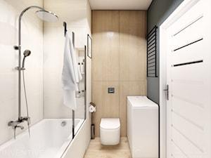 MIESZKANIE WOLA - Średnia szara łazienka w bloku w domu jednorodzinnym bez okna, styl minimalistyczny - zdjęcie od INVENTIVE studio