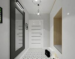 PROJEKT DOMU - Średni szary hol / przedpokój, styl industrialny - zdjęcie od INVENTIVE studio