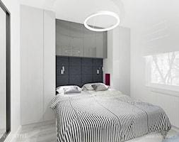 DELIKATNA ELEGANCJA - Mała biała sypialnia małżeńska, styl nowoczesny - zdjęcie od INVENTIVE studio