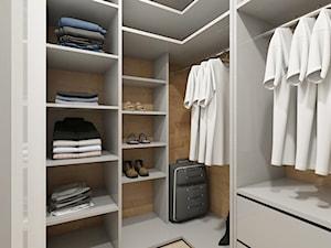 WARSZAWA ŻOLIBORZ - Mała zamknięta garderoba oddzielne pomieszczenie, styl nowoczesny - zdjęcie od INVENTIVE studio