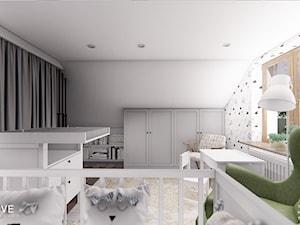 DOM CELESTYNÓW - Średni biały pokój dziecka dla dziewczynki dla niemowlaka, styl tradycyjny - zdjęcie od INVENTIVE studio