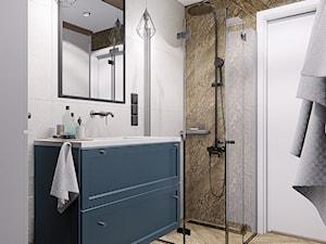 DOM CELESTYNÓW - Średnia biała łazienka bez okna, styl tradycyjny - zdjęcie od INVENTIVE studio