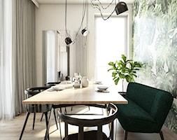 Żoli Żoli - Średnia biała zielona jadalnia jako osobne pomieszczenie, styl minimalistyczny - zdjęcie od INVENTIVE studio
