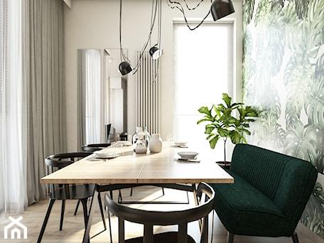 Aranżacje wnętrz - Jadalnia: Żoli Żoli - Średnia biała zielona jadalnia jako osobne pomieszczenie, styl minimalistyczny - INVENTIVE studio. Przeglądaj, dodawaj i zapisuj najlepsze zdjęcia, pomysły i inspiracje designerskie. W bazie mamy już prawie milion fotografii!