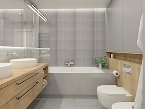 WARSZAWA ŻOLIBORZ - Średnia łazienka w bloku w domu jednorodzinnym bez okna, styl nowoczesny - zdjęcie od INVENTIVE studio