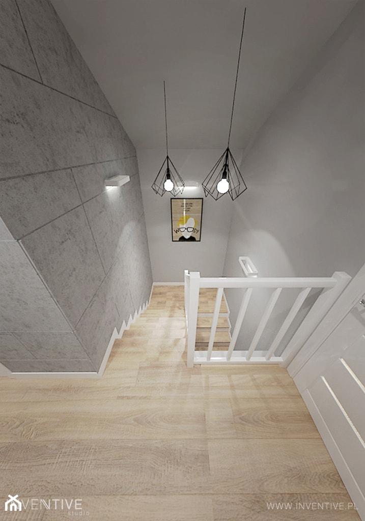 PROJEKT DOMU - Schody, styl industrialny - zdjęcie od INVENTIVE studio