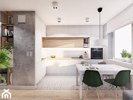 Aranżacje wnętrz - Kuchnia: MIESZKANIE KRAKÓW - Średnia szara kuchnia w kształcie litery l w aneksie z oknem, styl minimalistyc ... - INVENTIVE studio. Przeglądaj, dodawaj i zapisuj najlepsze zdjęcia, pomysły i inspiracje designerskie. W bazie mamy już prawie milion fotografii!