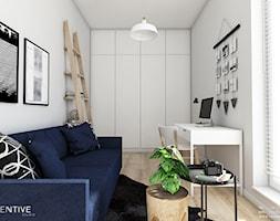 Żoli Żoli - Średnie białe biuro domowe kącik do pracy w pokoju, styl minimalistyczny - zdjęcie od INVENTIVE studio