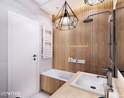 WARSZAWA BEMOWO - Mała łazienka w bloku w domu jednorodzinnym bez okna, styl nowoczesny - zdjęcie od INVENTIVE studio