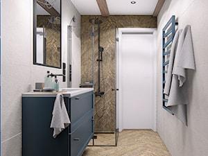DOM CELESTYNÓW - Średnia biała łazienka w bloku bez okna, styl tradycyjny - zdjęcie od INVENTIVE studio