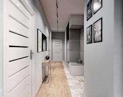 MIESZKANIE WOLA - Duży szary hol / przedpokój, styl skandynawski - zdjęcie od INVENTIVE studio