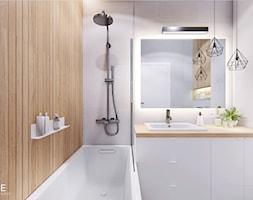WARSZAWA BEMOWO - Mała biała łazienka w bloku w domu jednorodzinnym bez okna, styl nowoczesny - zdjęcie od INVENTIVE studio