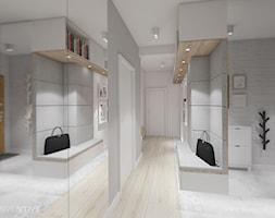 pasteLOVE - Średni biały szary hol / przedpokój, styl skandynawski - zdjęcie od INVENTIVE studio