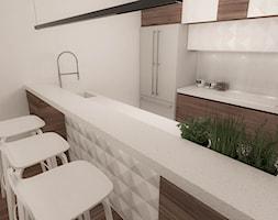 APARTAMENT W STYLU ARTDECO DLA KONESERA WINA - Średnia otwarta biała kuchnia dwurzędowa, styl art deco - zdjęcie od MANUKA pracownia projektowa