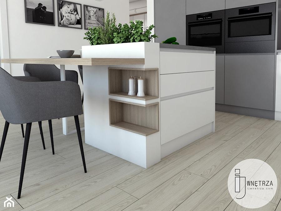 Salon z aneksem kuchennym - zdjęcie od IJ Wnętrza