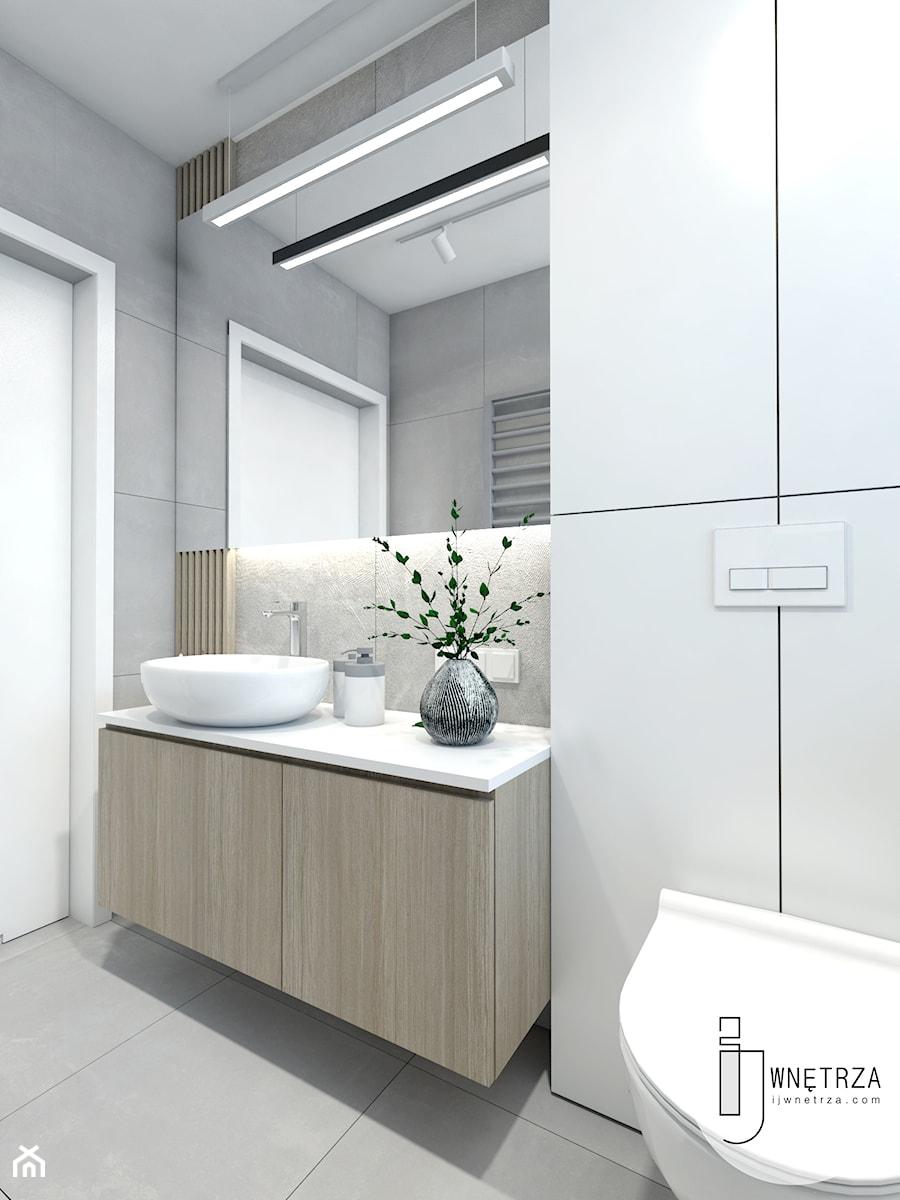 Łazienka biało-szara - zdjęcie od IJ Wnętrza