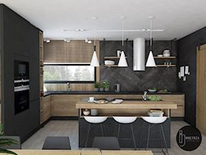 Kuchnia&Salon w domu jednorodzinnym - zdjęcie od IJ Wnętrza