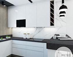 KUCHNIA z marmurem - Średnia otwarta biała kuchnia w kształcie litery u, styl nowoczesny - zdjęcie od IJ Wnętrza - Homebook