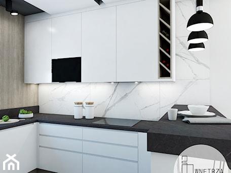 Aranżacje wnętrz - Kuchnia: KUCHNIA z marmurem - Średnia otwarta biała kuchnia w kształcie litery u, styl nowoczesny - IJ Wnętrza. Przeglądaj, dodawaj i zapisuj najlepsze zdjęcia, pomysły i inspiracje designerskie. W bazie mamy już prawie milion fotografii!