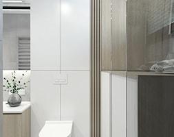 Łazienka biało-szara - zdjęcie od IJ Wnętrza - Homebook