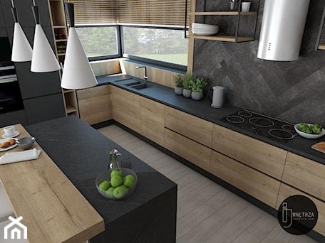 Aranżacje wnętrz - Kuchnia: Kuchnia&Salon w domu jednorodzinnym - IJ Wnętrza. Przeglądaj, dodawaj i zapisuj najlepsze zdjęcia, pomysły i inspiracje designerskie. W bazie mamy już prawie milion fotografii!