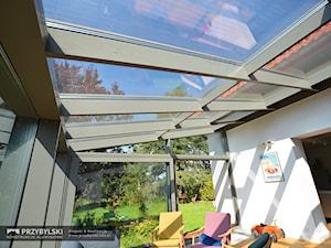 Przeszklony dach w salonie - zdjęcie od Przybylski Ogrody Zimowe & Konstrukcje aluminiowo-szklane