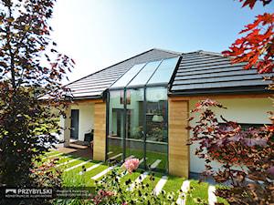 Szklany dach w domu jednorodzinnym