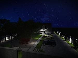 Ogród w nowoczesnym stylu - Projektowanie nawierzchni z kostki brukowej i Projektowanie ogrodów - zdjęcie od Ogrody Agnieszki