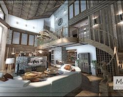 Projekt w dużego domu wraz z basenem oraz zapleczem gospodarczym - zdjęcie od MoRA MAX Design