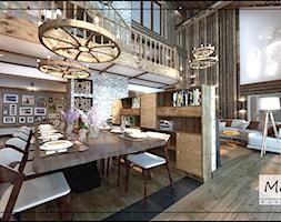 Strefa jadalni z dużym stołem kuchennym - zdjęcie od MoRA MAX Design