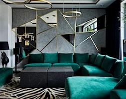 Realizacja GreenTiger - Salon, styl nowoczesny - zdjęcie od KODY Wnętrza | projektowanie wnętrz i doradztwo - Homebook