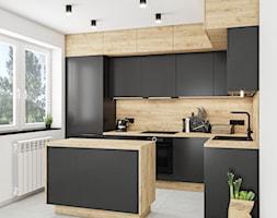 Kuchnia Kronospan Dąb Craft Złoty - Kuchnia, styl nowoczesny - zdjęcie od Vimko Projektowanie Wnętrz - Homebook