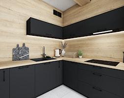 Mała czarna kuchnia - Kuchnia, styl nowoczesny - zdjęcie od Vimko Projektowanie Wnętrz - Homebook