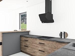 Kuchnia rustykalne drewno