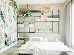 Sypialnia boho z motywem dżungli