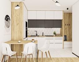 Kuchnia z niebieskimi frontami - Kuchnia, styl skandynawski - zdjęcie od Vimko Projektowanie Wnętrz - Homebook