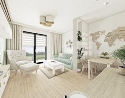 Fluoryt - Projekt domu - Salon, styl skandynawski - zdjęcie od Vimko Projektowanie Wnętrz - Homebook