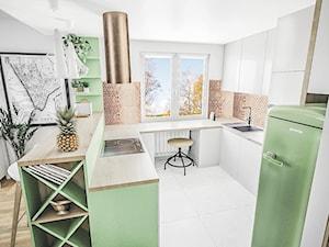 Zielona kuchnia z akcentem miedzi - zdjęcie od Vimko Projektowanie Wnętrz