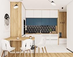 Kuchnia z niebieskimi frontami - Kuchnia, styl nowoczesny - zdjęcie od Vimko Projektowanie Wnętrz - Homebook