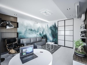 Minimalistyczny salon