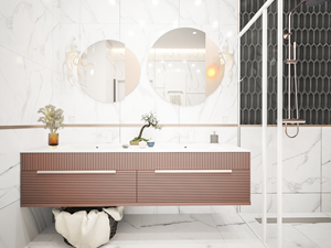 Tritone - Łazienka, styl art deco - zdjęcie od Vimko Projektowanie Wnętrz