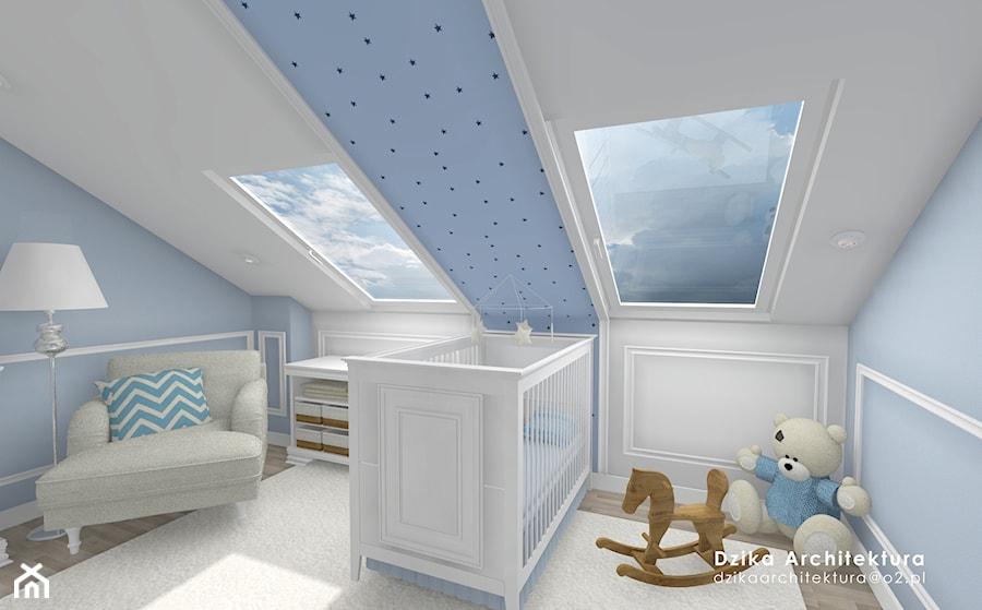 Aranżacje wnętrz - Pokój dziecka: WILLA URSYNÓW - Mały szary niebieski pokój dziecka dla chłopca dla dziewczynki dla niemowlaka, styl klasyczny - DziKa Architektura. Przeglądaj, dodawaj i zapisuj najlepsze zdjęcia, pomysły i inspiracje designerskie. W bazie mamy już prawie milion fotografii!