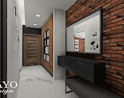 Mieszkanie w stylu loftowym - Średni biały czarny hol / przedpokój, styl industrialny - zdjęcie od Bayo design