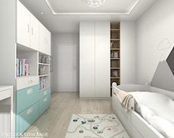 Pokój dziecięcy - Duży biały pokój dziecka dla chłopca dla dziewczynki dla malucha dla nastolatka - zdjęcie od Projektowanie Wnetrz Online